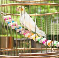 Pet  Small Birds Toys Drawbridge Bridge Wooden Singing Cockatiel