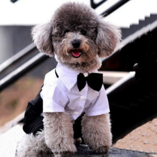 Bow Tie Small Pet Dog Clothes Puppy Apparel Jumpsuit